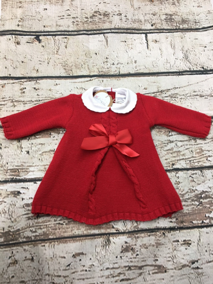 Red Dress with Peter Pan Collar